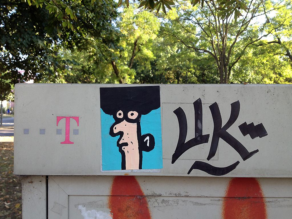 Aufkleber in Frankfurt: 1