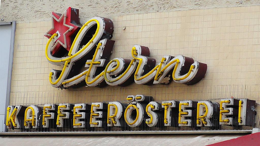 Typografie Frankfurt: Stern Kaffeerösterei