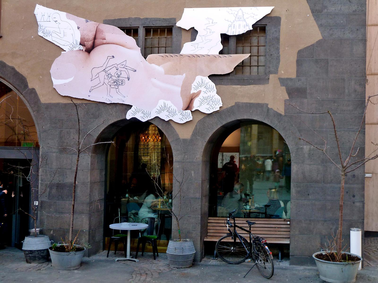 Frankfurter Kunstverein - David Schiesser Wandinstallation