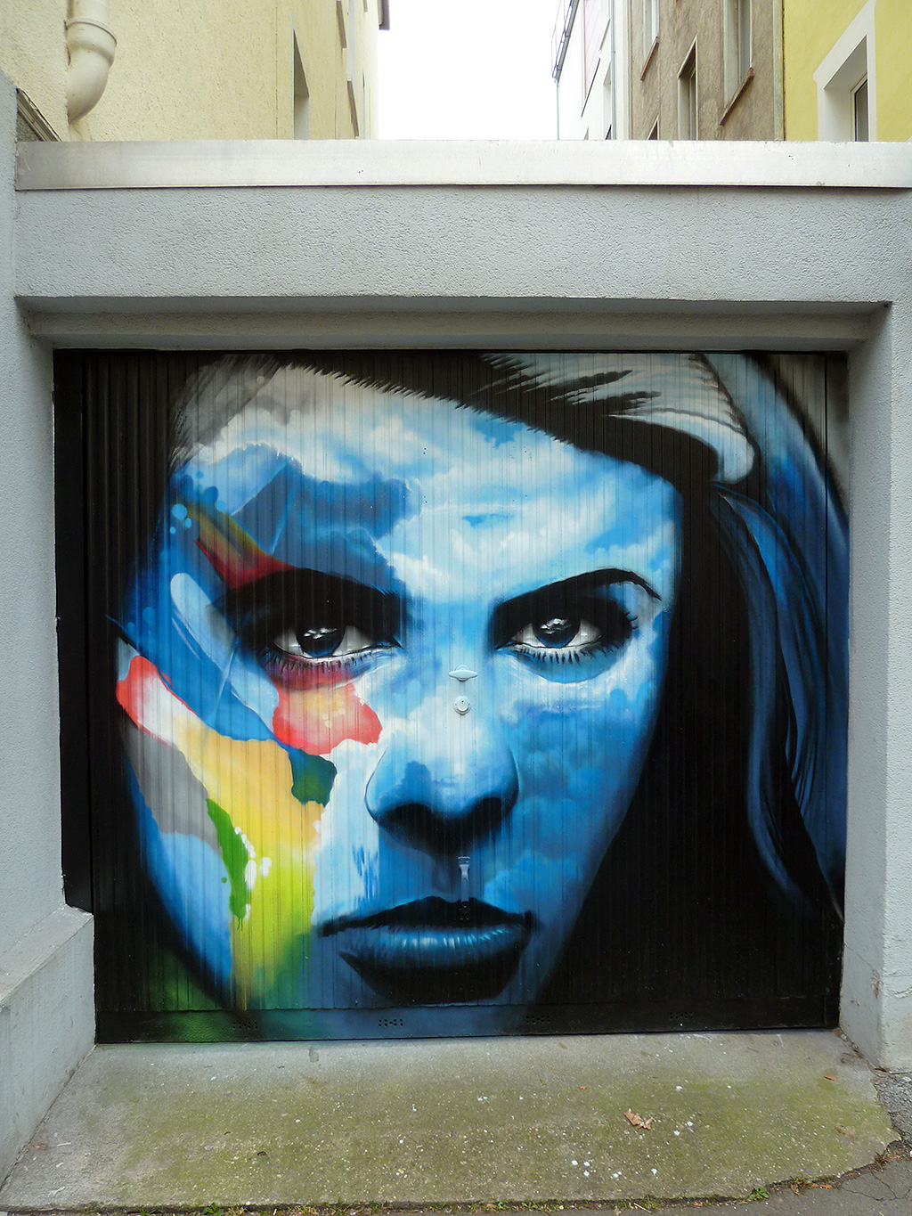 Garage Door Street Art im Sandweg