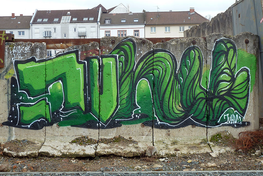 JUHU-Graffiti in Offenbach