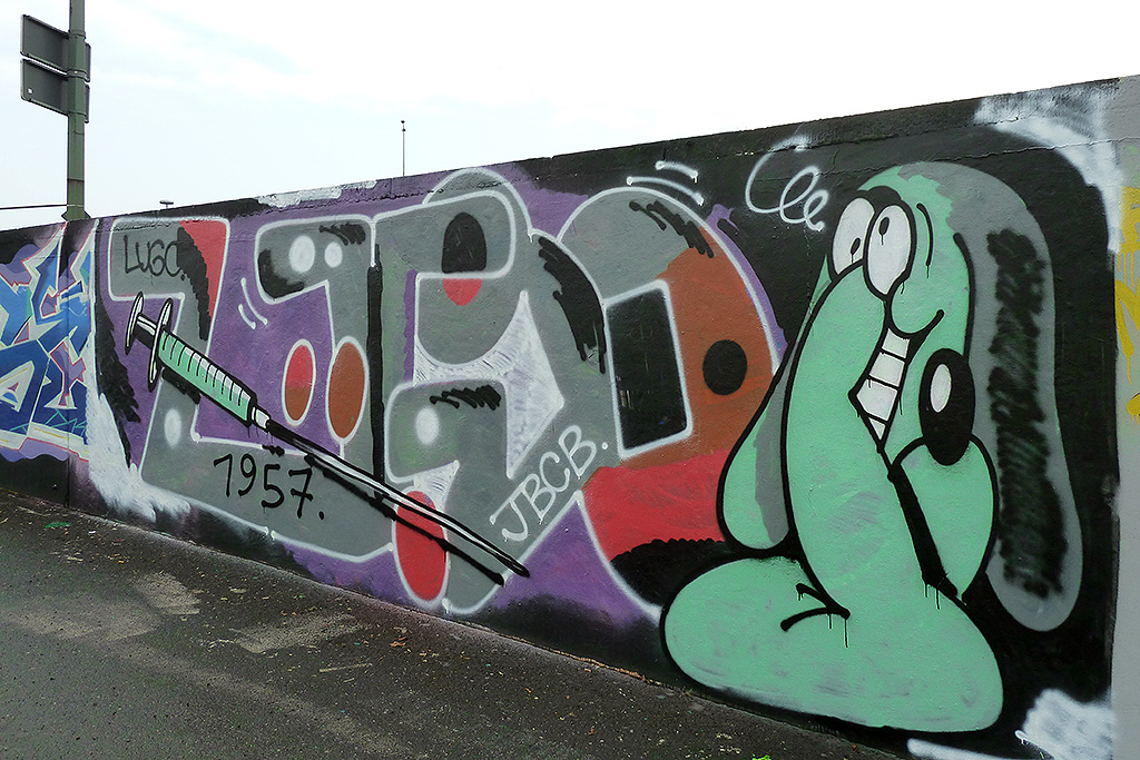 Graffiti in Frankfurt - Luca Lugosis (JBCB)