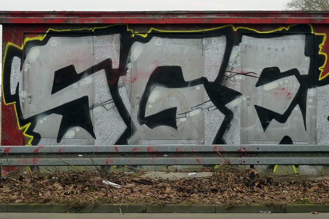 SGE-Graffiti beim Festplatz am Ratsweg