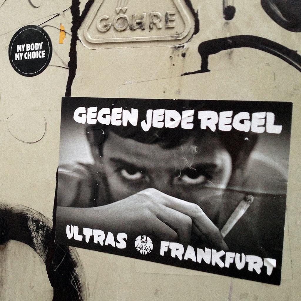 Aufkleber: Gegen jede Regel - Ultras Frankfurt