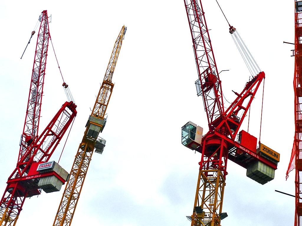 Bauarbeiten in der Frankfurter Innenstadt