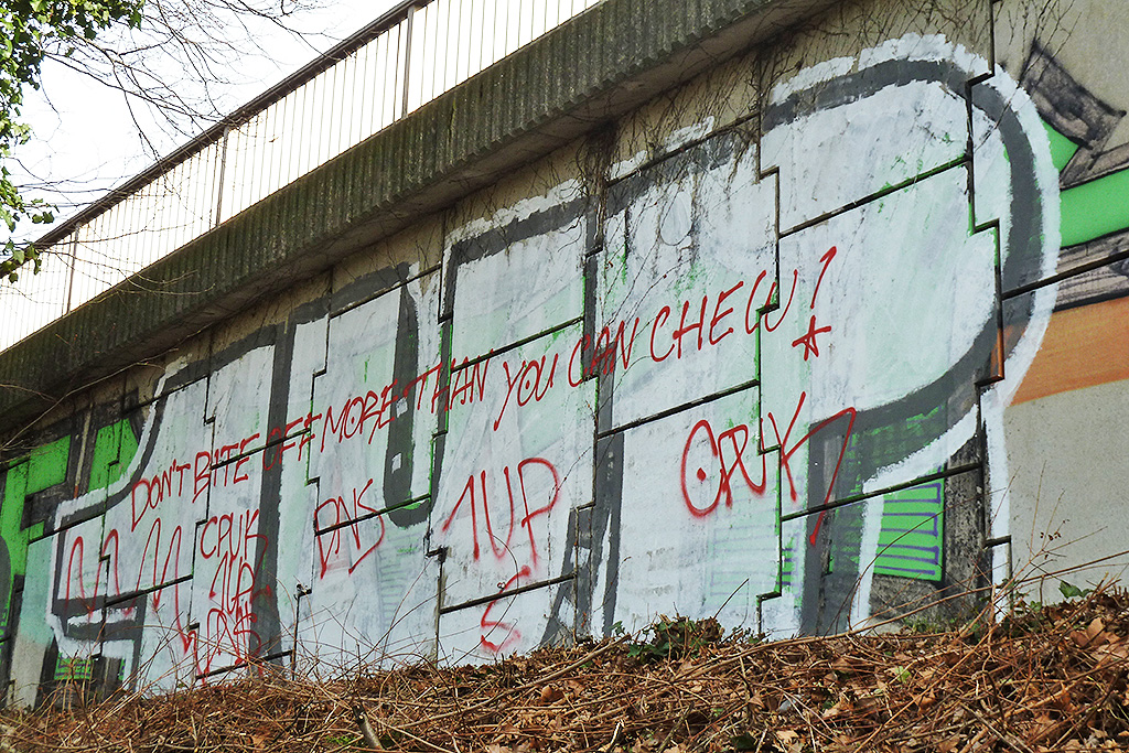 Graffiti in Frankfurt - Don't bite off more than you can chew!
