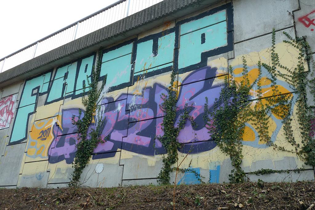 Graffiti in Frankfurt - FAB, 1UP, BISK