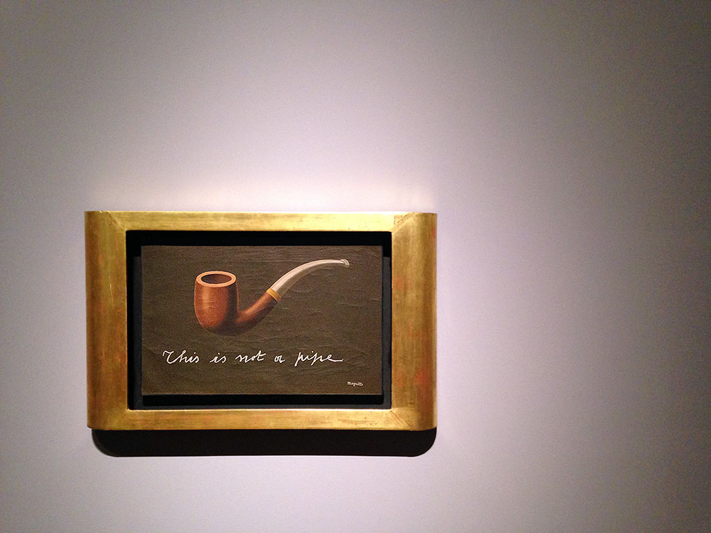 """This is not a pipe""-Bild in der Schirn"