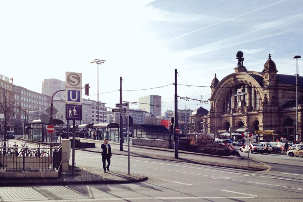 Bahnhofsviertel und Hauptbahnhof in Frankfurt