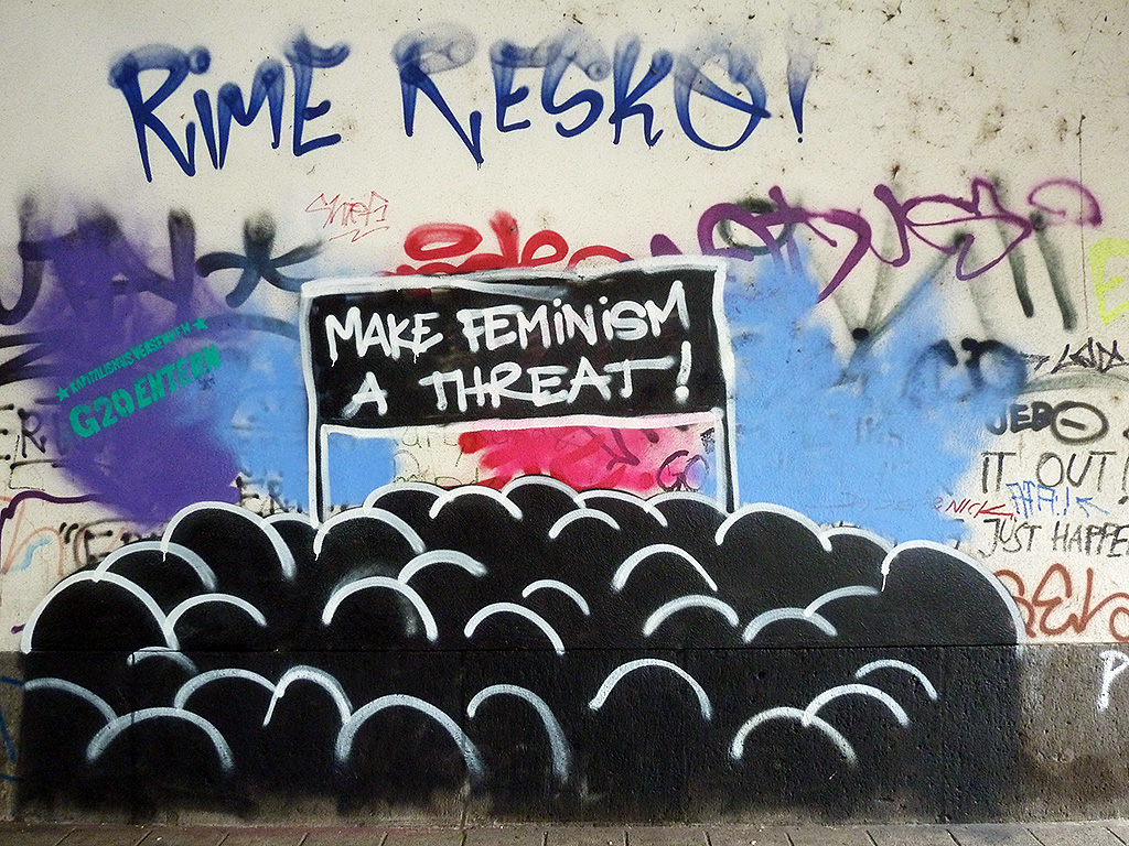 Graffiti in Offenbach - MAKE FEMINISM A THREAT