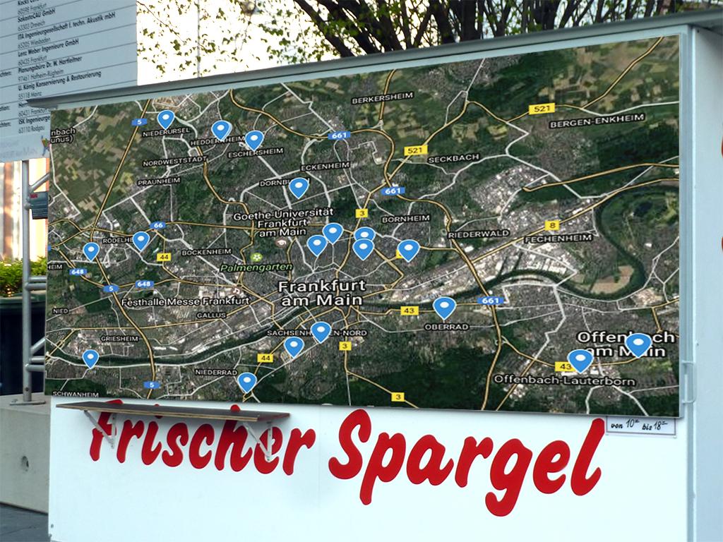Spargel-Map - Übersicht zu Spargelstände in Frankfurt