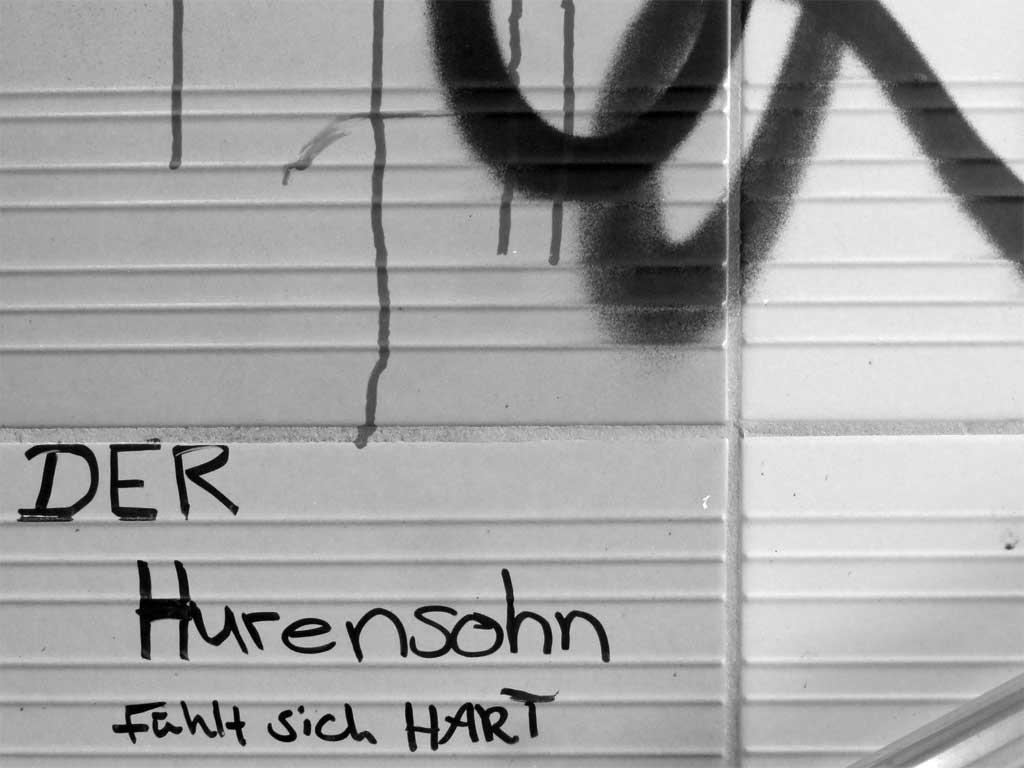 Streettalk in Frankfurt: Der Hurensohn fühlt sich hart