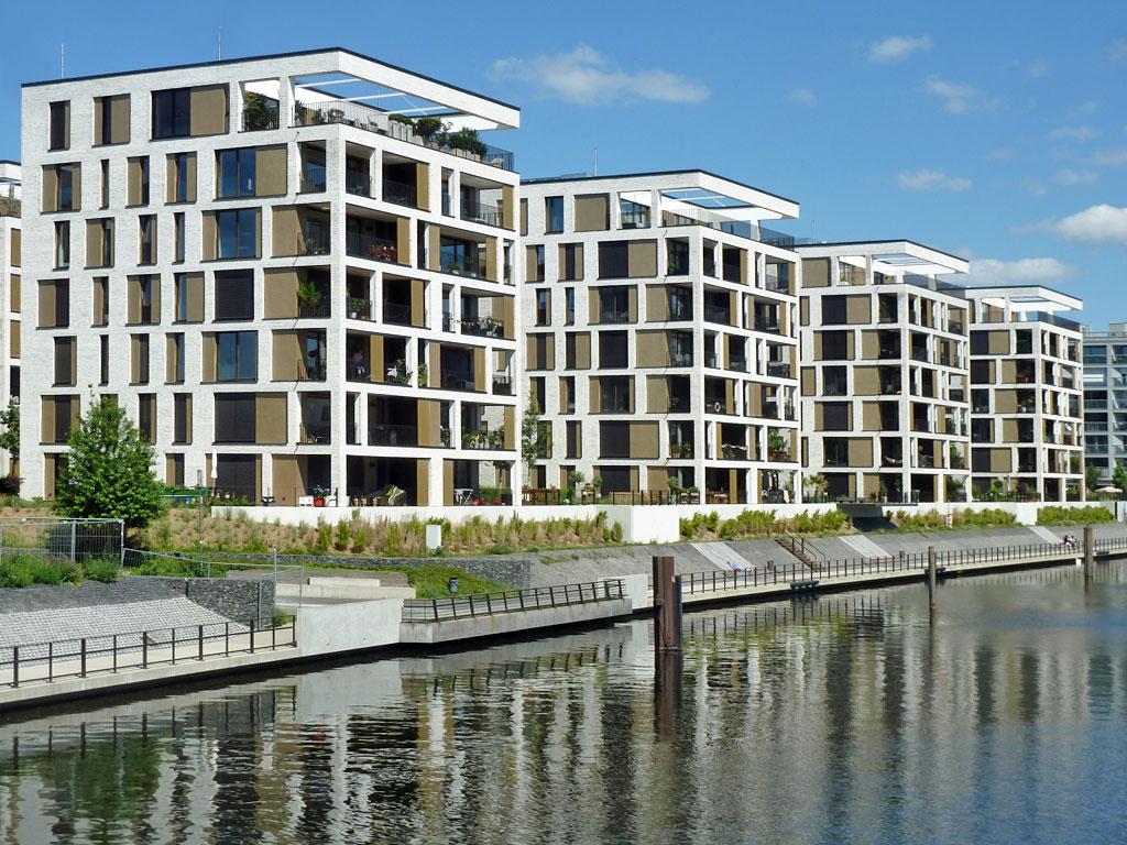 Neubebauung am Hafen in Offenbach