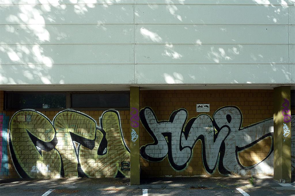 Graffiti in Mainz: CRU und HNB