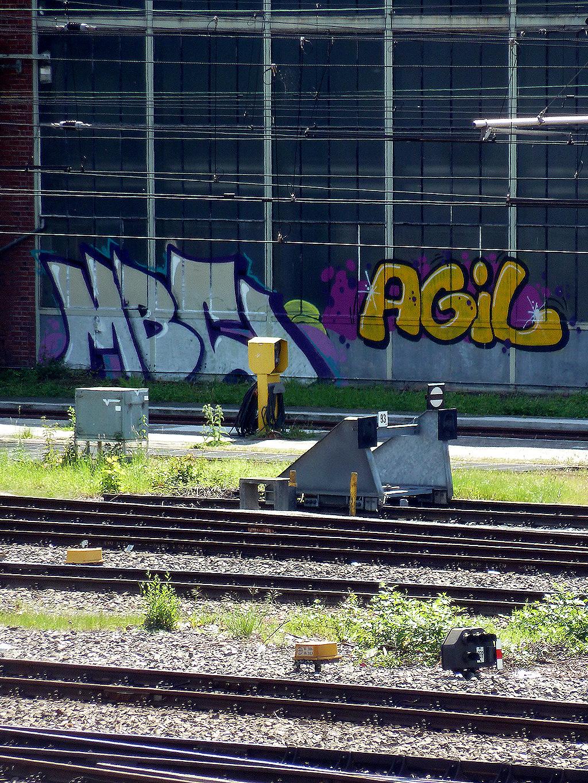 Graffiti in Mainz: MBC und AGIL