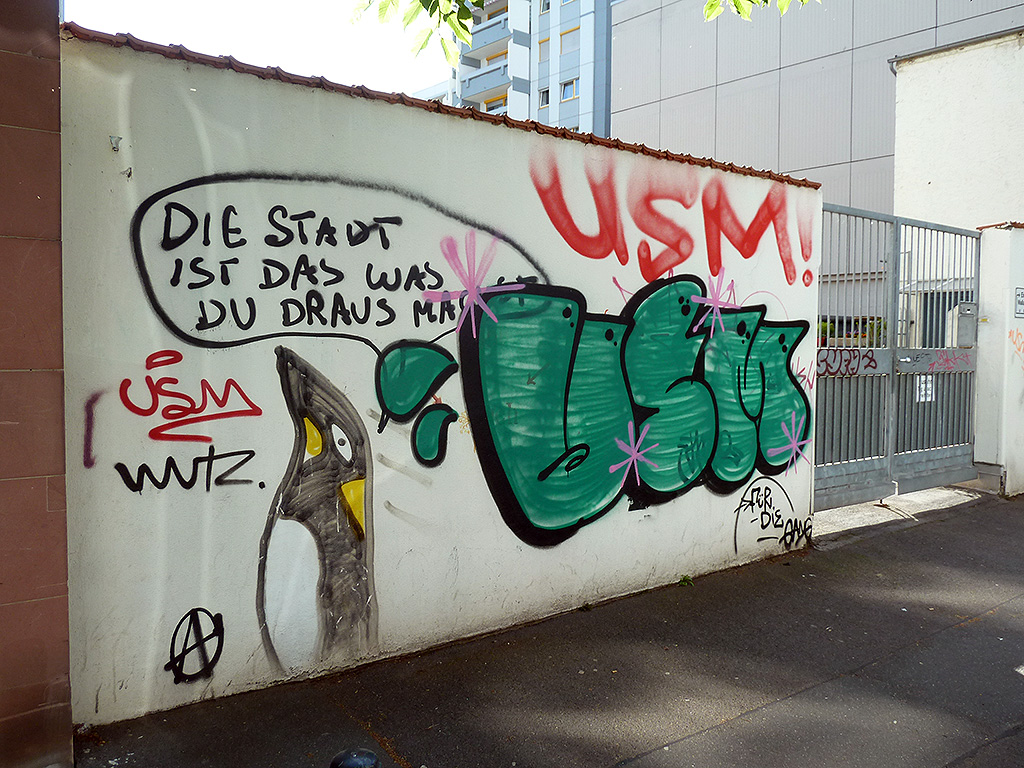 Graffiti In Mainz Stadtkind