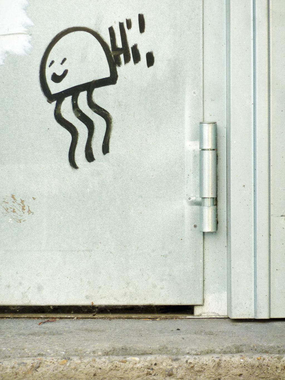 Streetart in Mainz: Freundliche Qualle