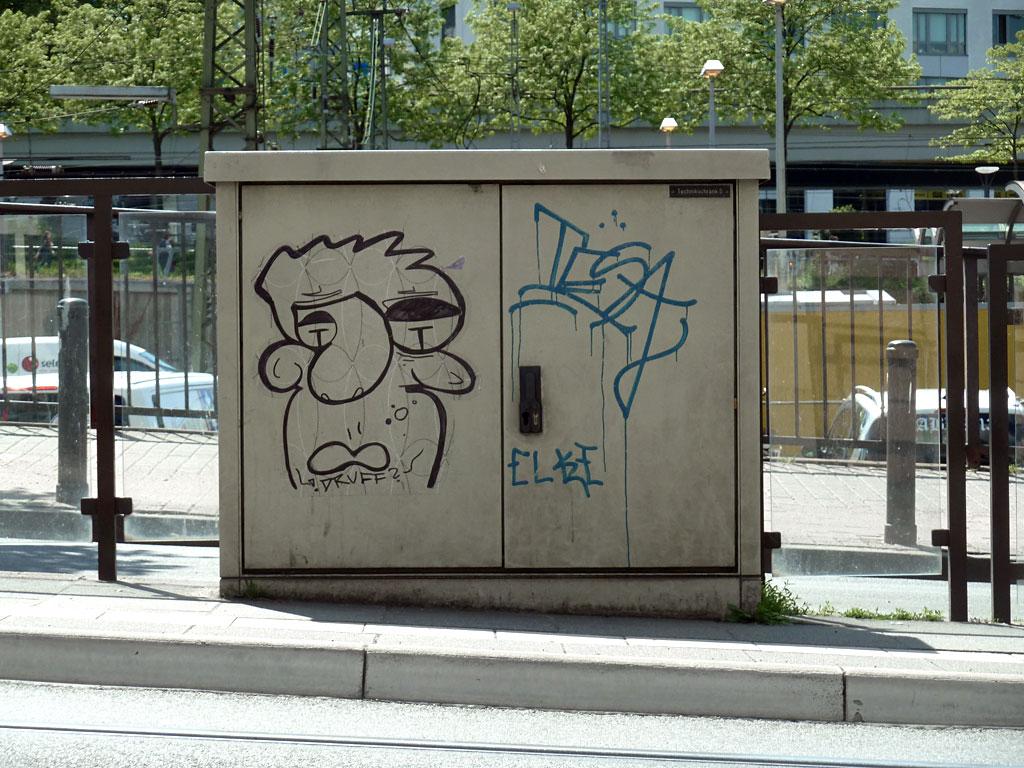"""""""Druff""""-Character am Stromkasten in Mainz"""