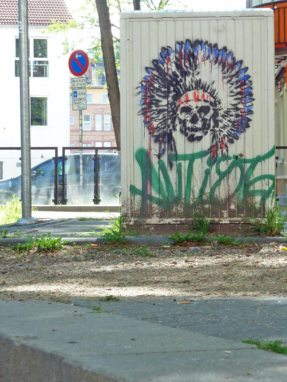 Stromkasten-Streetart in Mainz