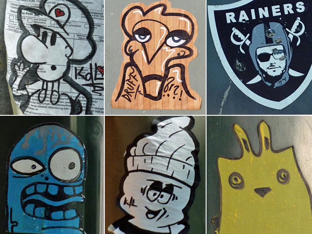 Streetart Aufkleber in Mainz