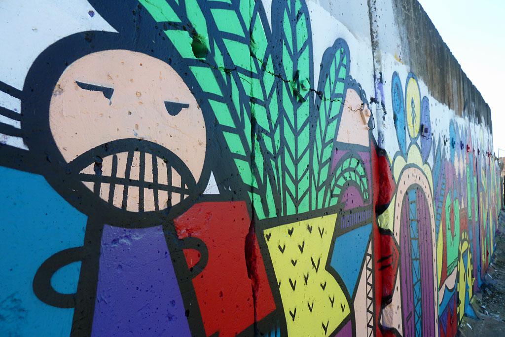Graffiti am Hafengarten in Offenbach