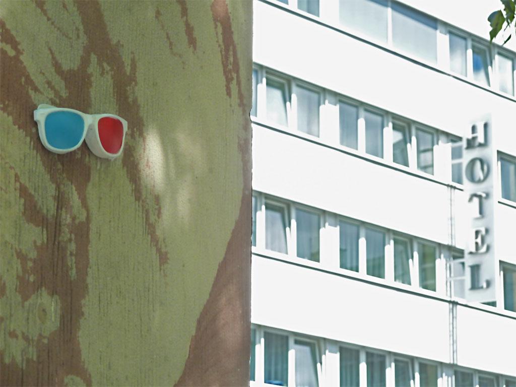 3D-Brille Streetart von Eisk in Frankfurt am Main