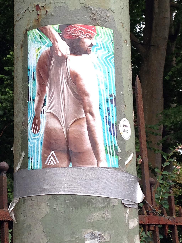 Street Art in Frankfurt - Bilder mit drei weißen Dreiecken