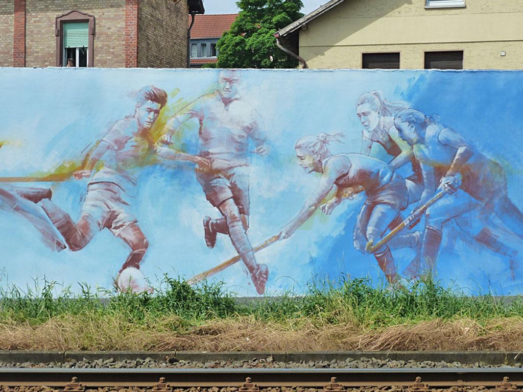 Guido Zimmermann - Mural mit Sportlern