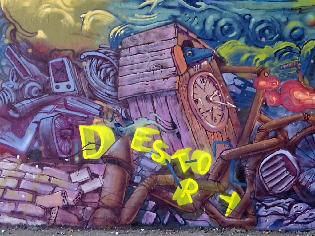 Meeting of Styles 2017 in Wiesbaden – Destroy Develop-Wall