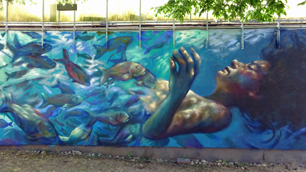 Guido Palmadessa-Mural beim Meeting of Styles 2017 in Wiesbaden Mainz-Kastel