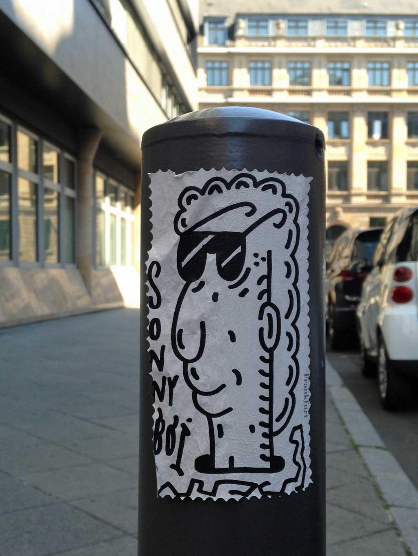 Streetart in Frankfurt: Treppe 1.OG