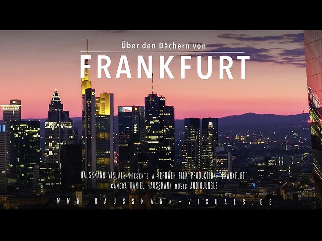 Über den Dächern von Frankfurt am Main
