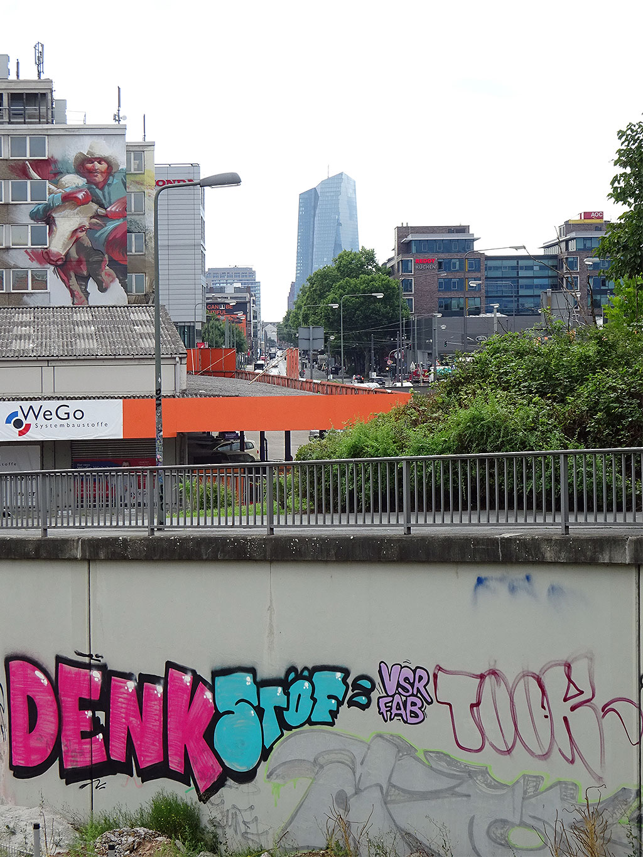 Graffiti im Ostend: Denk, Stöf, VSR, FAB