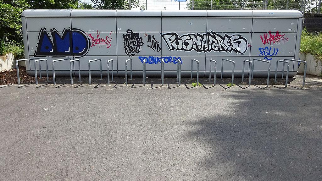 Graffiti in Bornheim: AMD, Pugnatores
