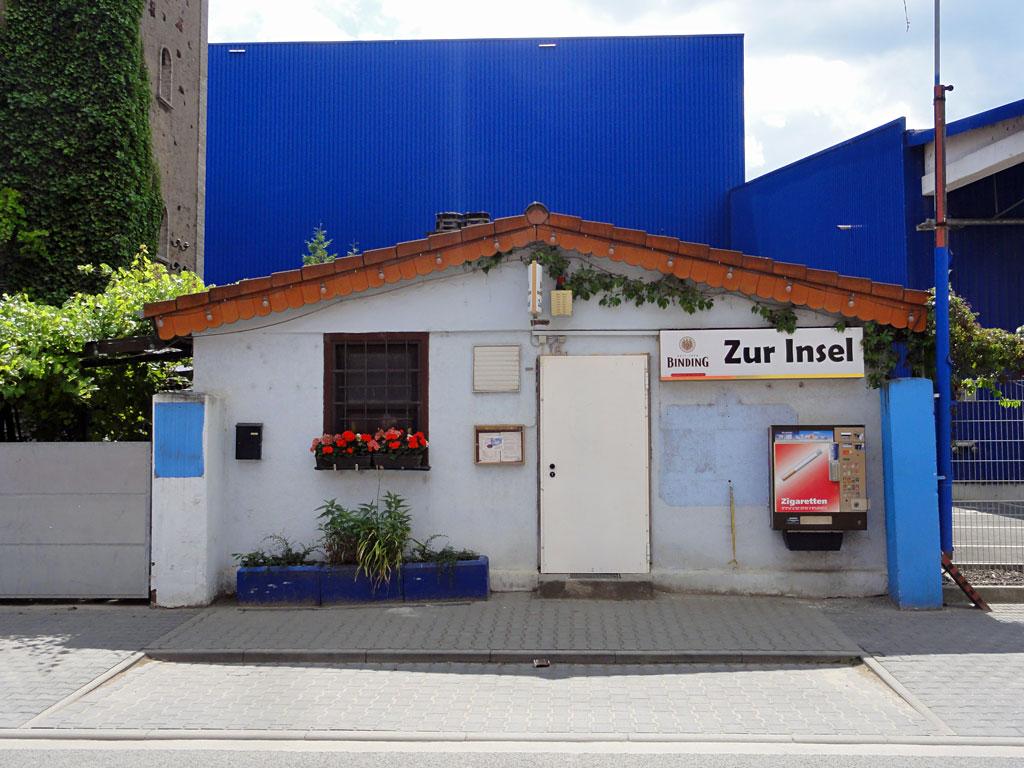 """Imbissbude """"Zur Insel"""" im Industriegebiet"""