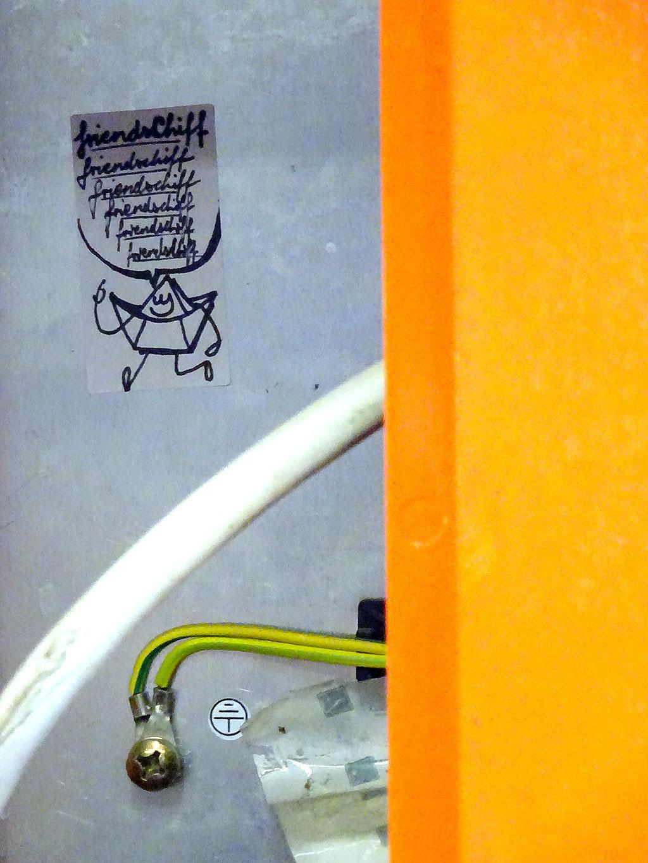 Stickerart im Ostend: Friendschiff