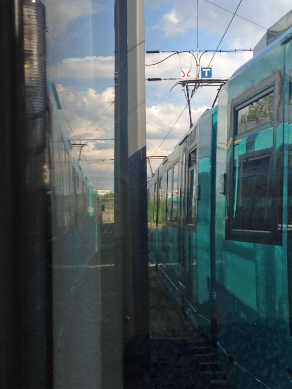 U-Bahn-Kurve hin zum Riederwald