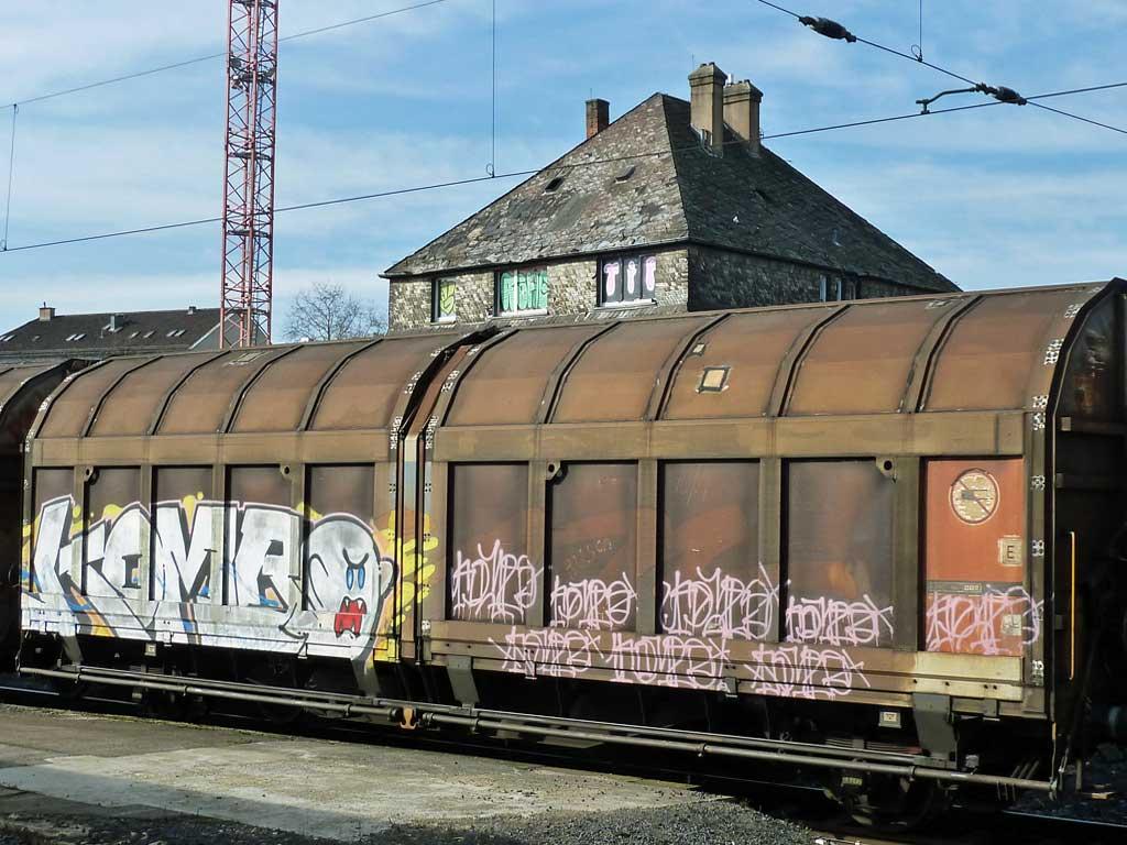 Graffiti auf Güterzügen