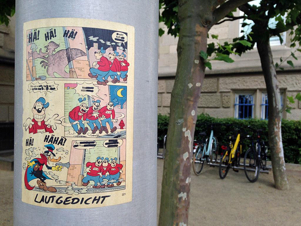 Comicseite mit Panzerknacker in Frankfurt