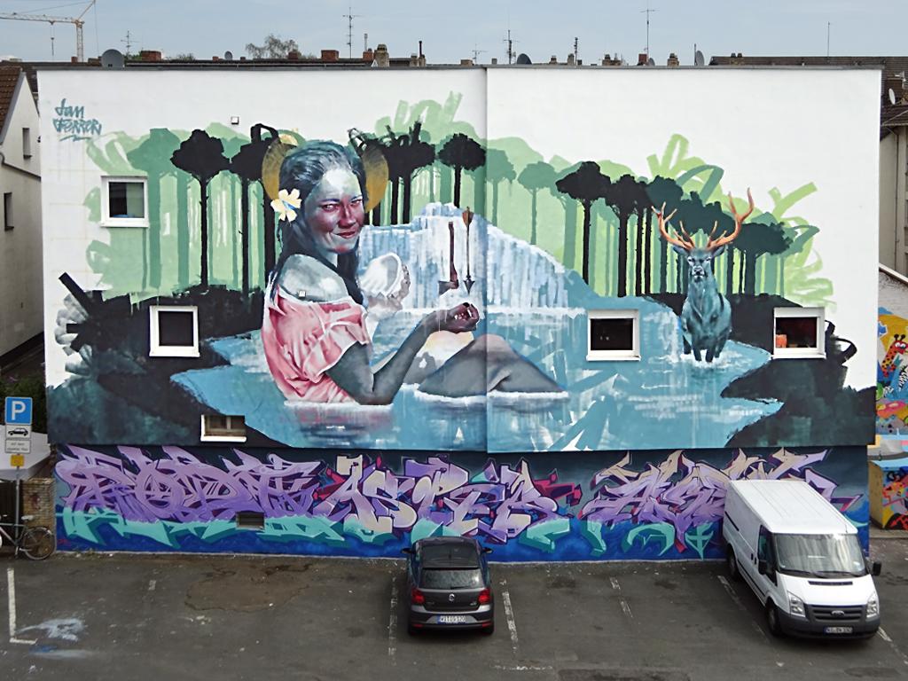 """""""Miss Wiesbaden""""-Mural by Dan Ferrer in Wiesbaden"""