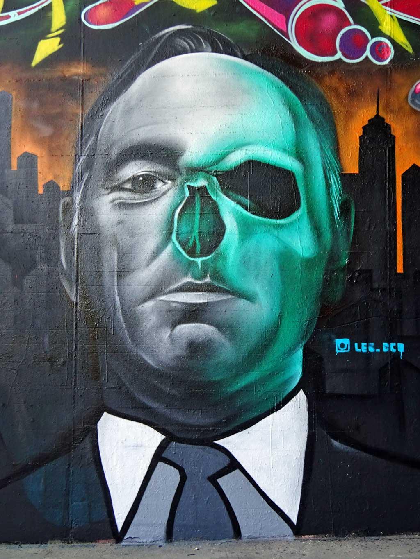 Frank Underwood-Graffiti beim Meeting of Stlyes 2017 in Wiesbaden