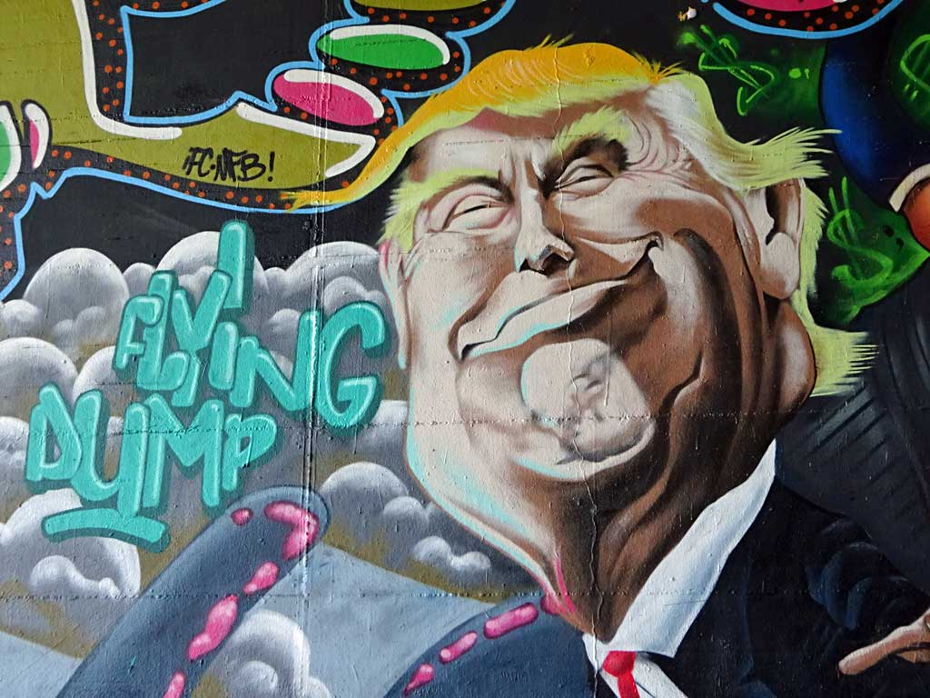 Donald Trump-Graffiti beim Meeting of Stlyes 2017 in Wiesbaden