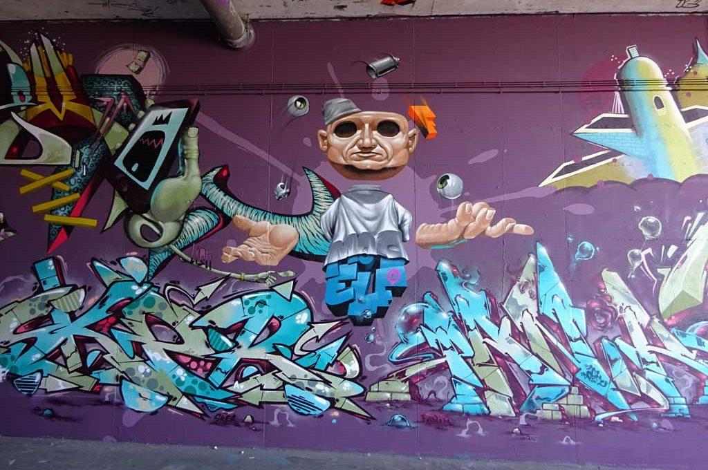 Graffiti von Sker und Panik beim MOS2017
