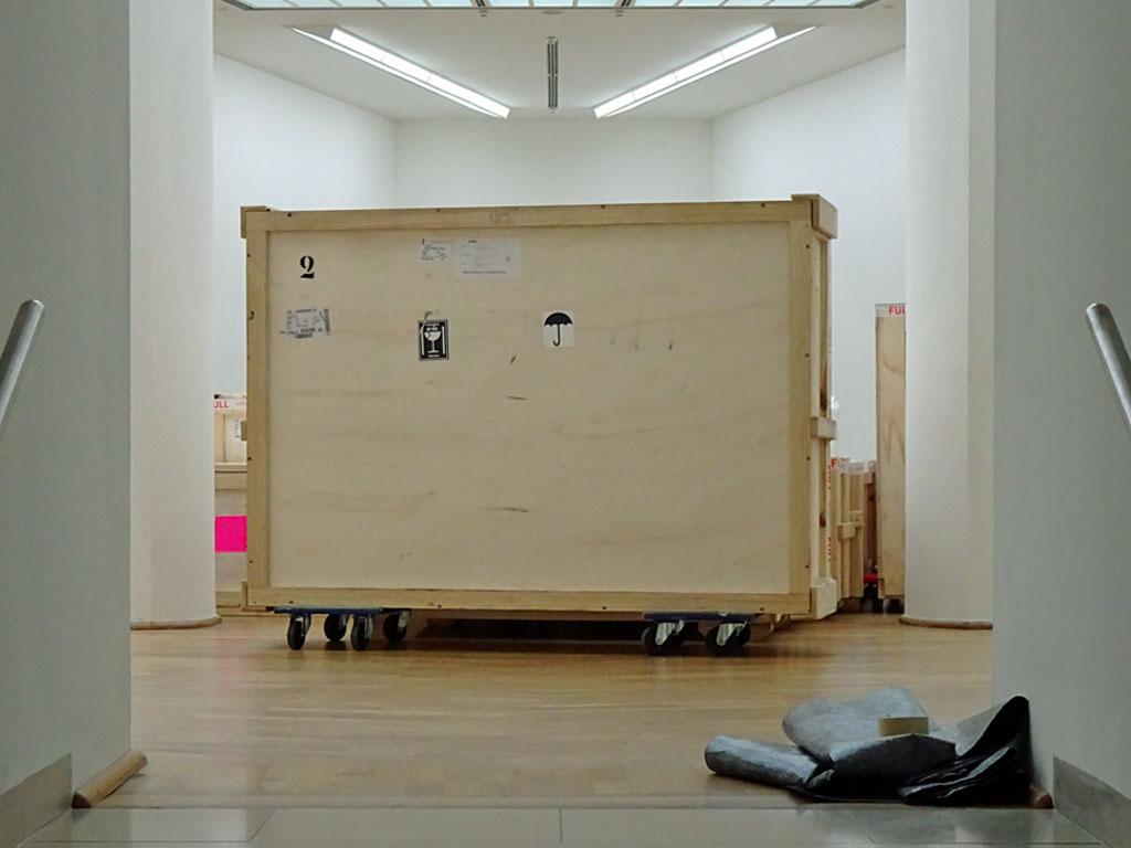 Ausstellungsumbau im Museum für Moderne Kunst in Frankfurt