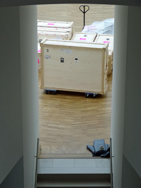 Ausstellungsumbau im MMK Frankfurt