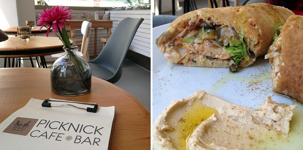 Hummus Wrap im Picknick Café Bar in Frankfurt Bornheim
