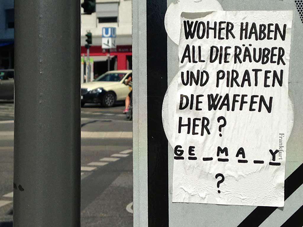 Street Art in Frankfurt von Treppe 1.OG - Straßenquiz mit Räuber und Piraten