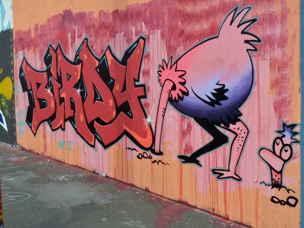 Birdy - Graffiti in Frankfurt – Hall of Fame am Ratswegkreisel