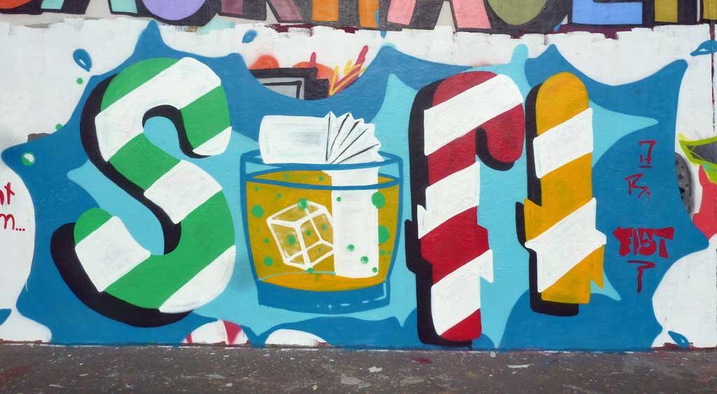 Saft - Graffiti in Frankfurt – Hall of Fame am Ratswegkreisel