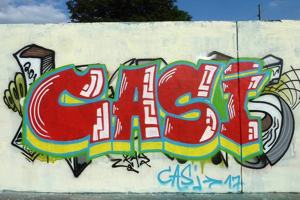 CASI-Graffiti am Ratswegkreisel